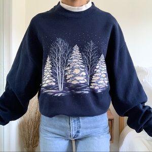 Vintage Christmas Winter Wonderland Sweatshirt